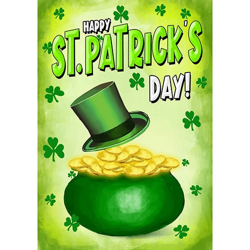 St. Patty's Pot O' Gold Double Sided House Flag