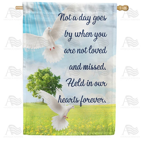 Loved And Missed Double Sided House Flag