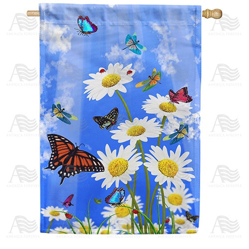 Spring Has Sprung Double Sided House Flag