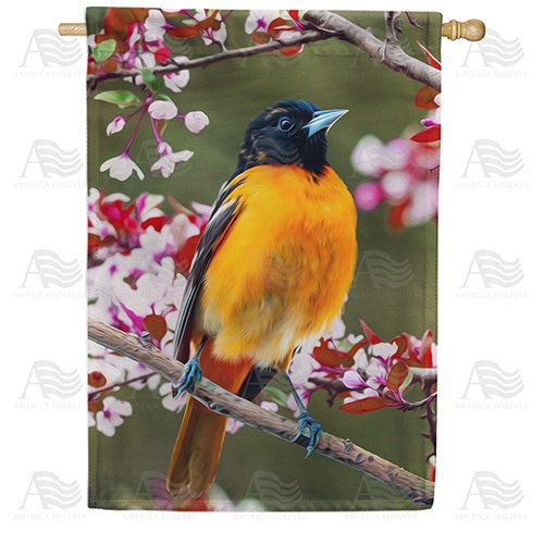 Baltimore Oriole Double Sided House Flag