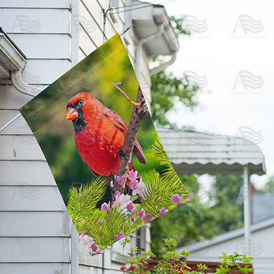 Cardinal In Sunshine Double Sided House Flag