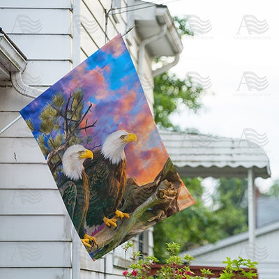 Eagles Eye View Double Sided House Flag