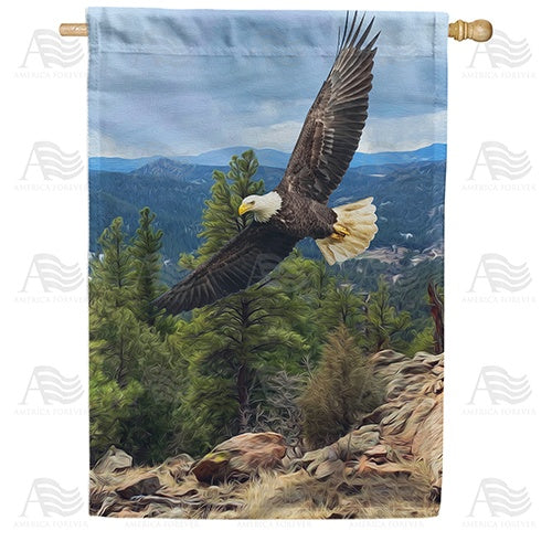 Eagle In Flight Double Sided House Flag