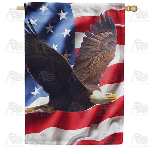 Wings Of Freedom Double Sided House Flag