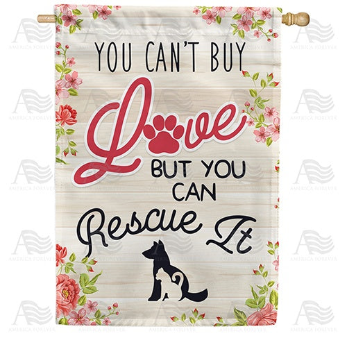 Rescue A Pet Double Sided House Flag