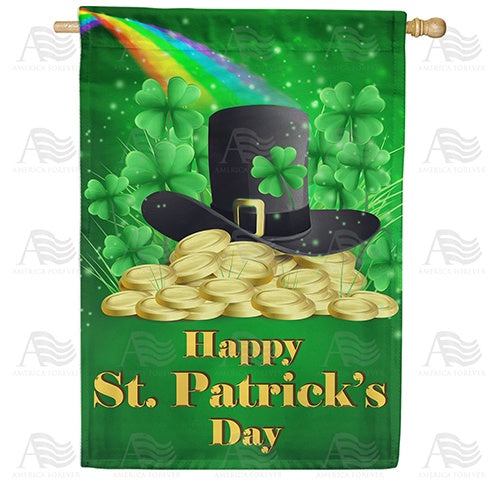 Leprechaun Hidden Stash Double Sided House Flag