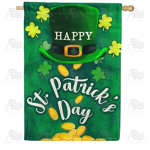 Irish Lucky Day Double Sided House Flag