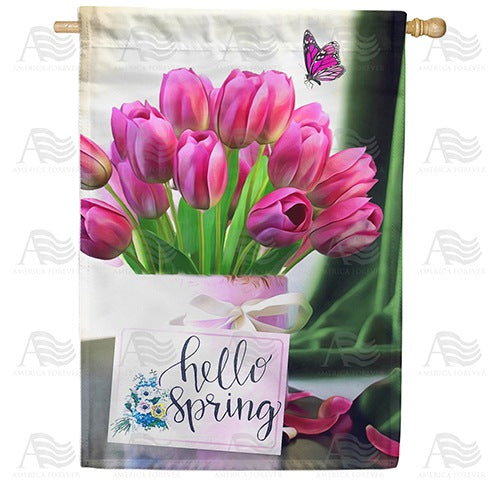 It's Noted, Spring Is Here! Double Sided House Flag