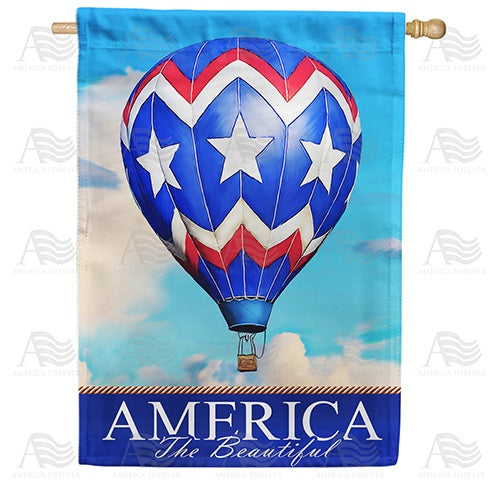 America the Beautiful Balloon Double Sided House Flag
