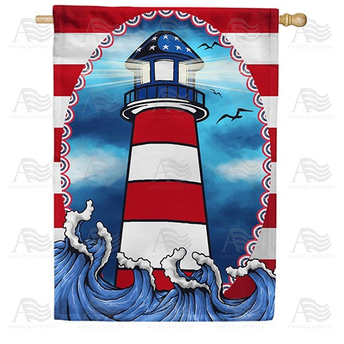 American Lighthouse Double Sided House Flag