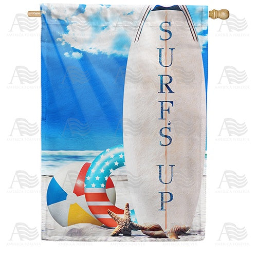 Surf's Up! Double Sided House Flag