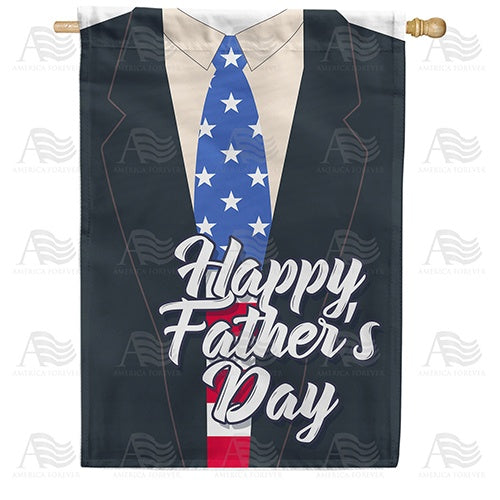 Patriotic Dad Double Sided House Flag