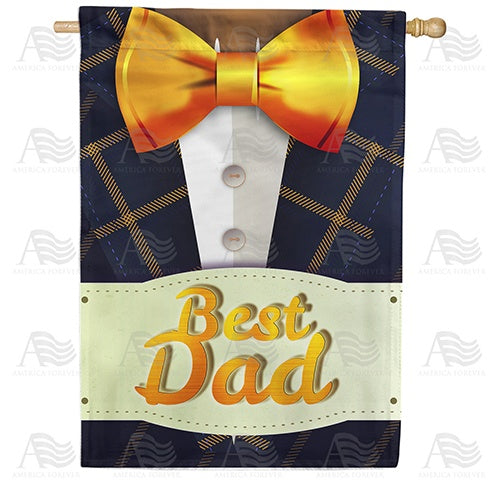 Best Dad Title Suits Him Double Sided House Flag