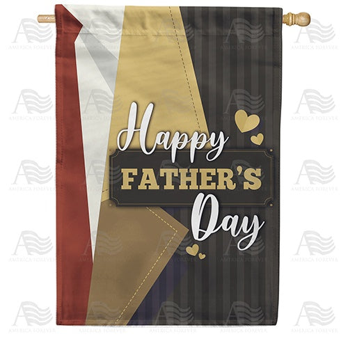 Father's Day Brown Lapel Double Sided House Flag