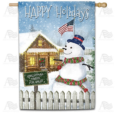Christmas Trees for Sale Double Sided House Flag