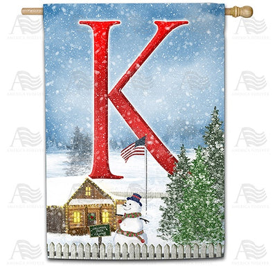 Christmas Trees For Sale Double Sided Monogram House Flag