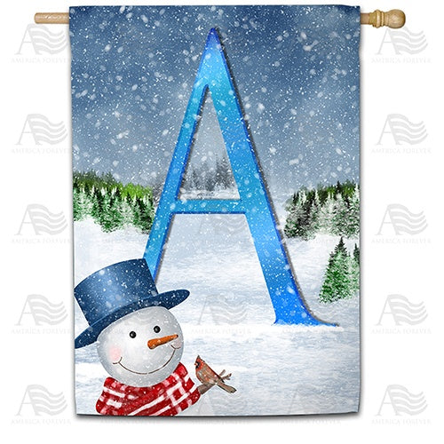 There's Snow Sun Today! Double Sided Monogram House Flag