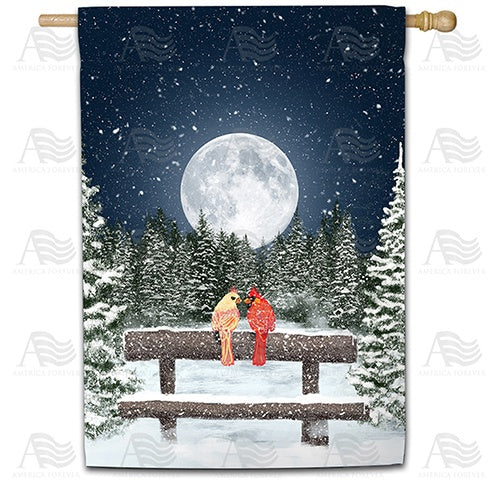 Winter Moon Double Sided House Flag