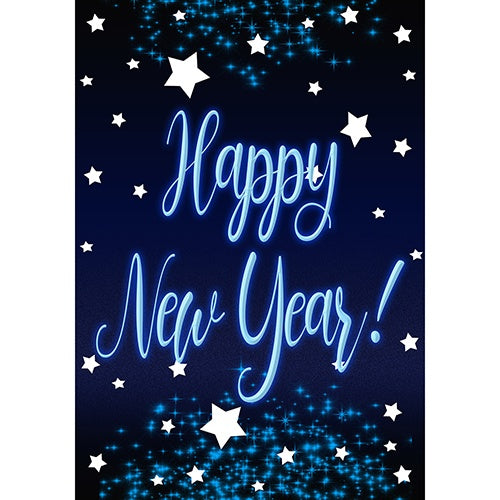 New Year Starlight Double Sided House Flag