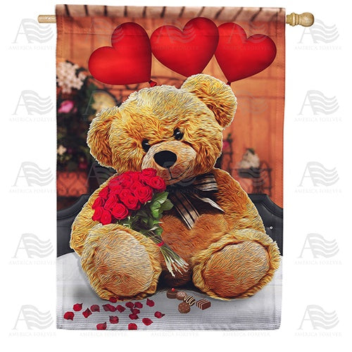 Tender Loving Teddy Double Sided House Flag