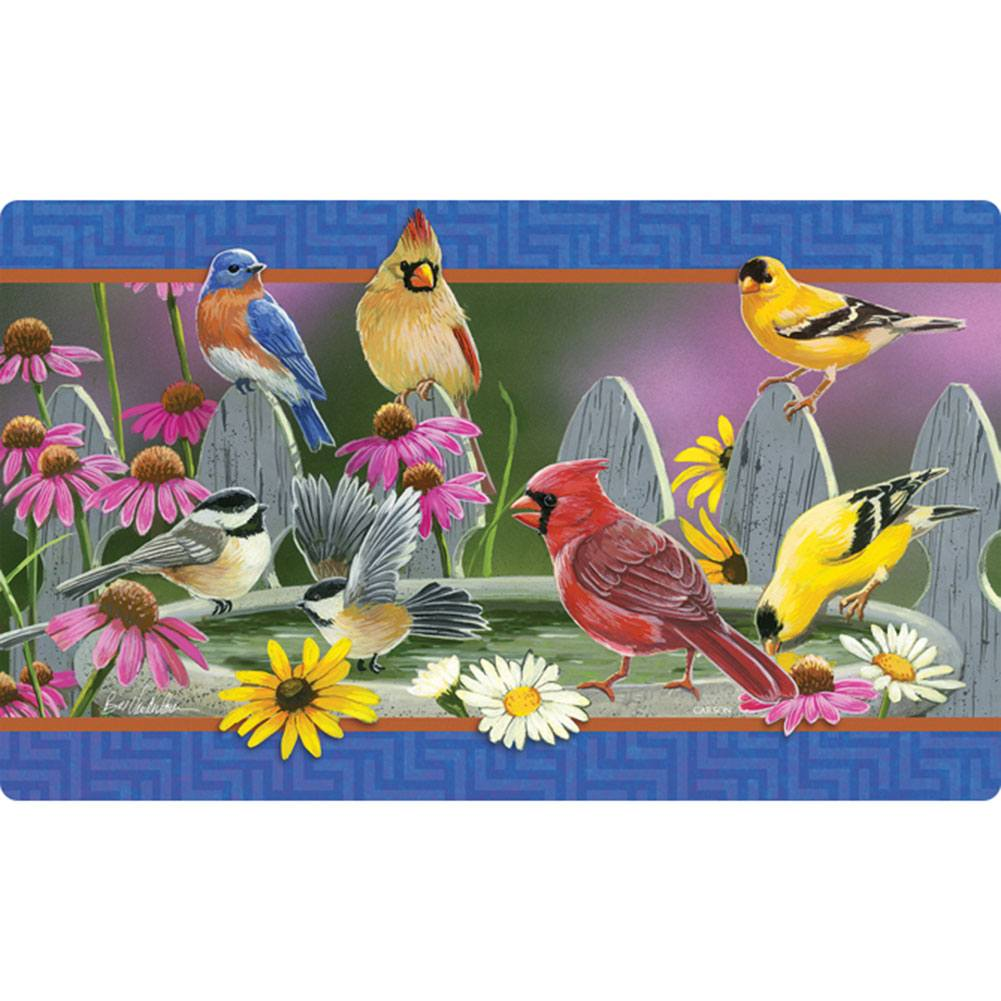 Birdbath Meeting Doormat