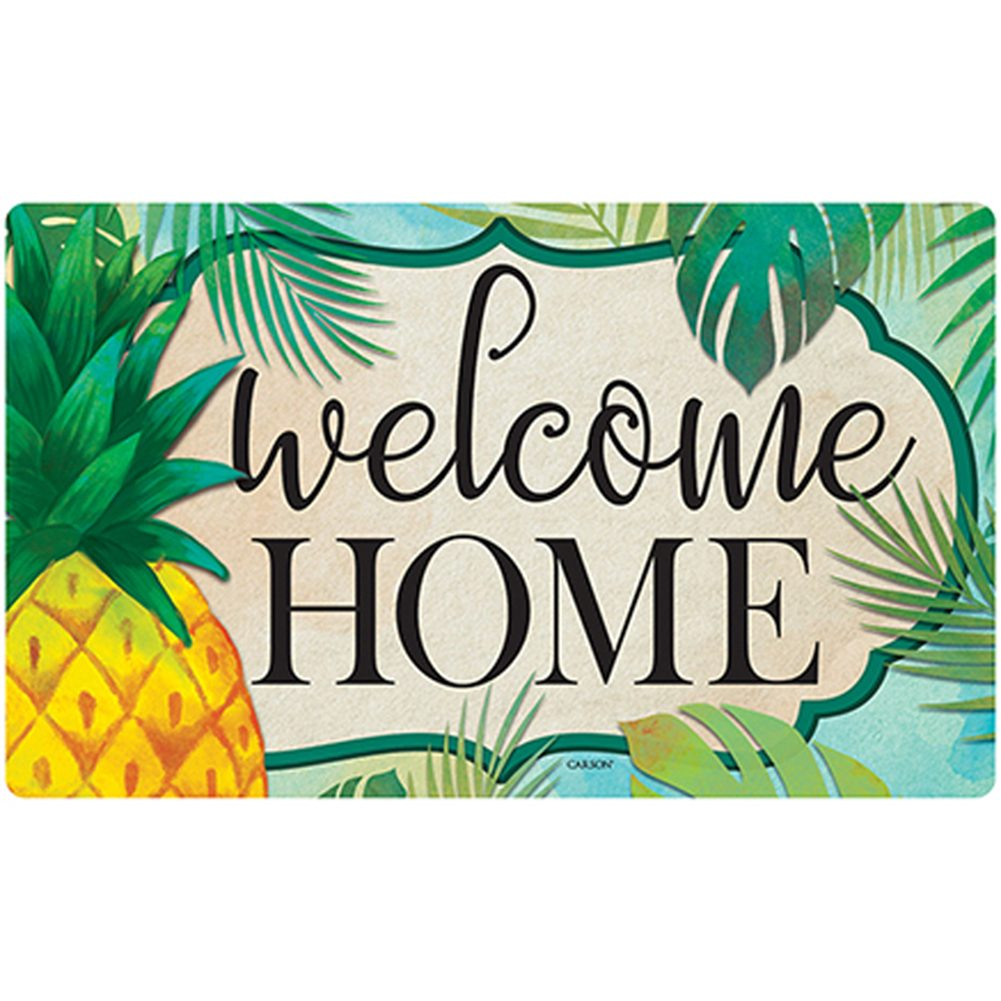 Palms & Pineapple Welcome Home Doormat