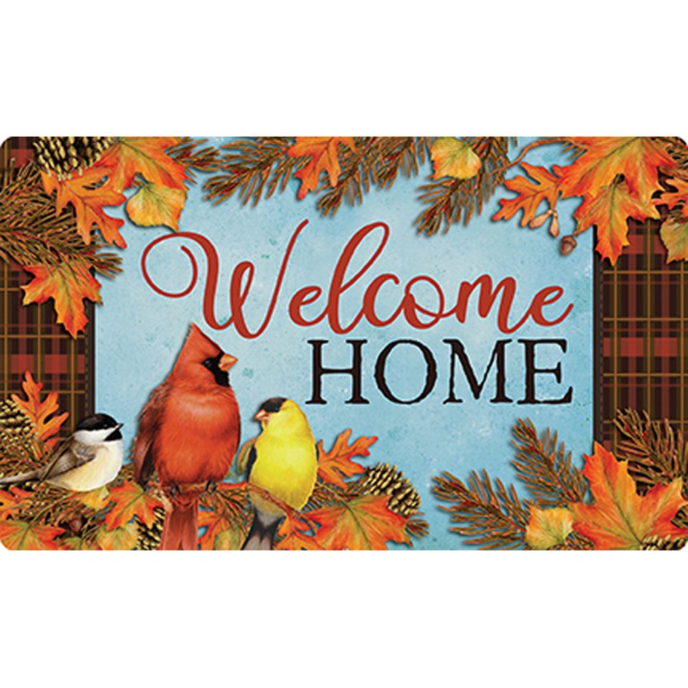 Autumn Songbirds Gather Together Doormat
