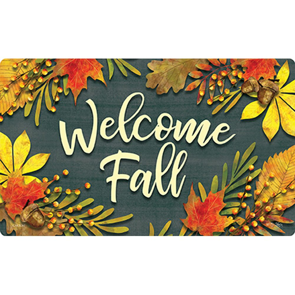 Carson Fall Leaves Welcome Doormat