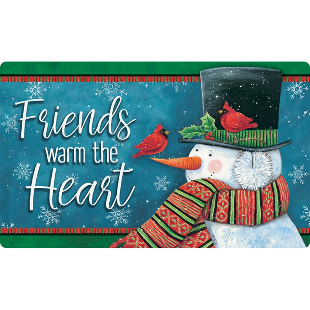 Friends Warm The Heart Doormat