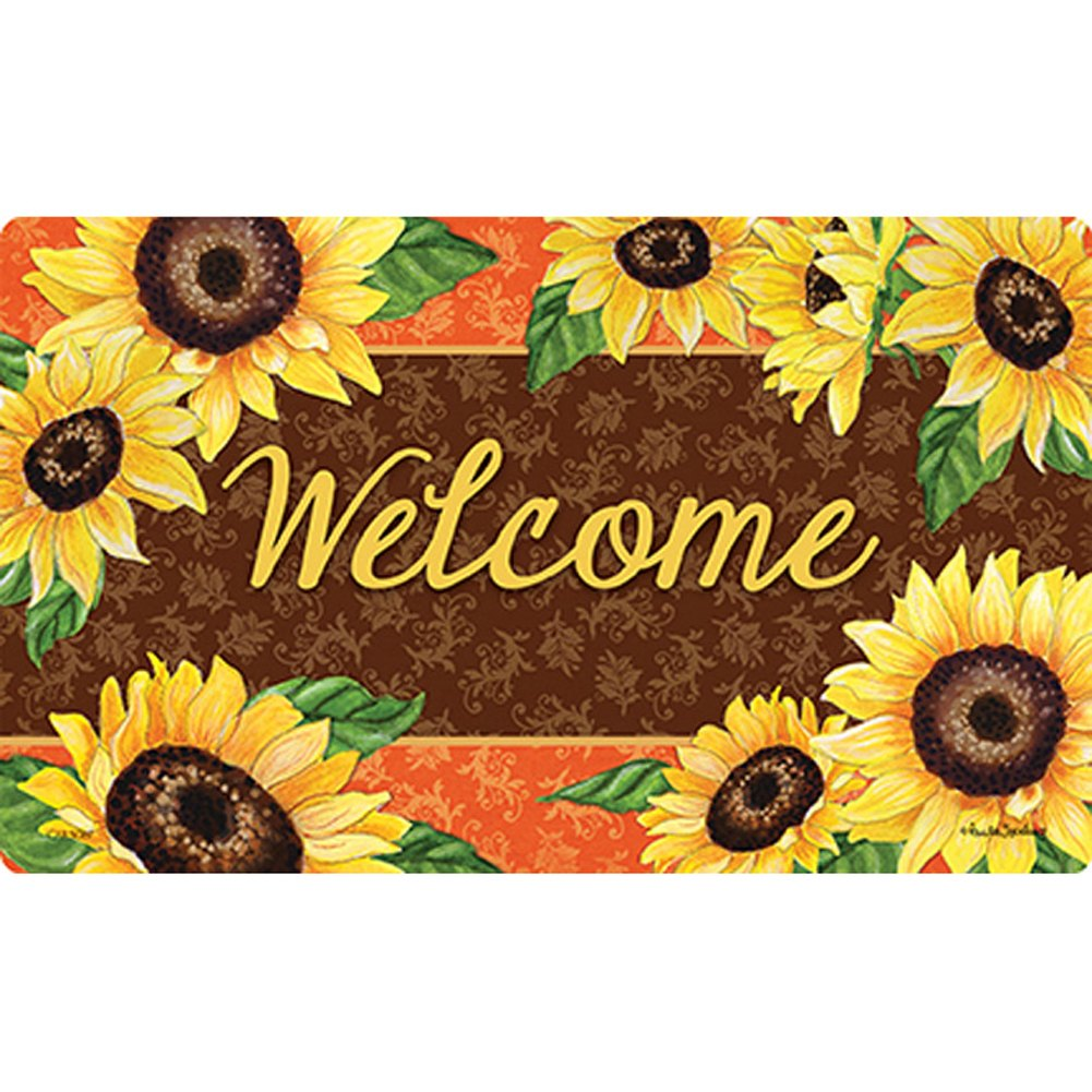 Bold Sunflowers Doormat