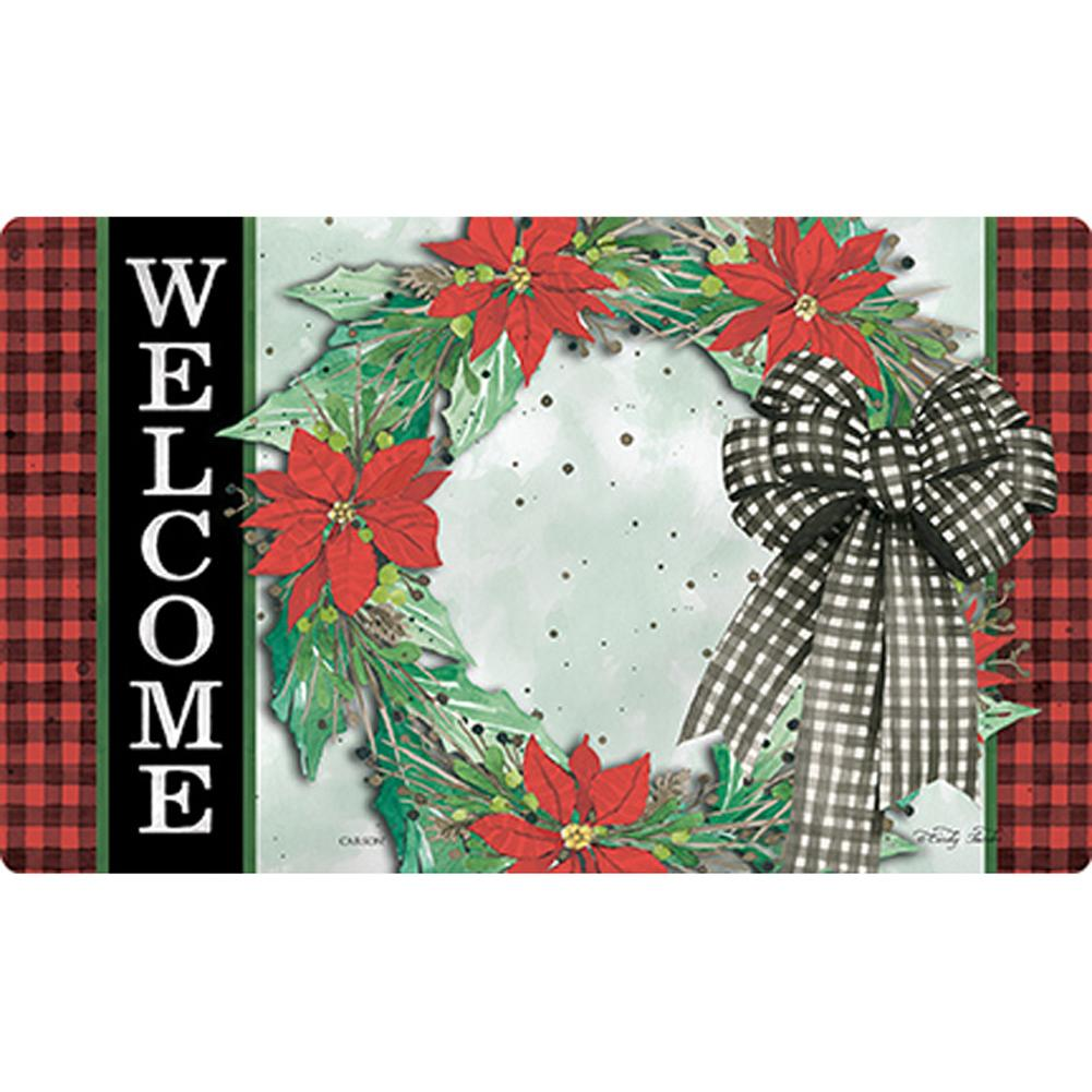 Holly Wreaths Doormat