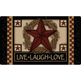 Star Wreath Outdoor Mat