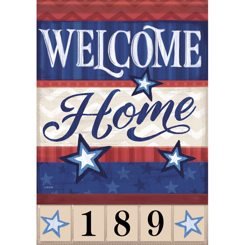 Military Family Address Garden Flag