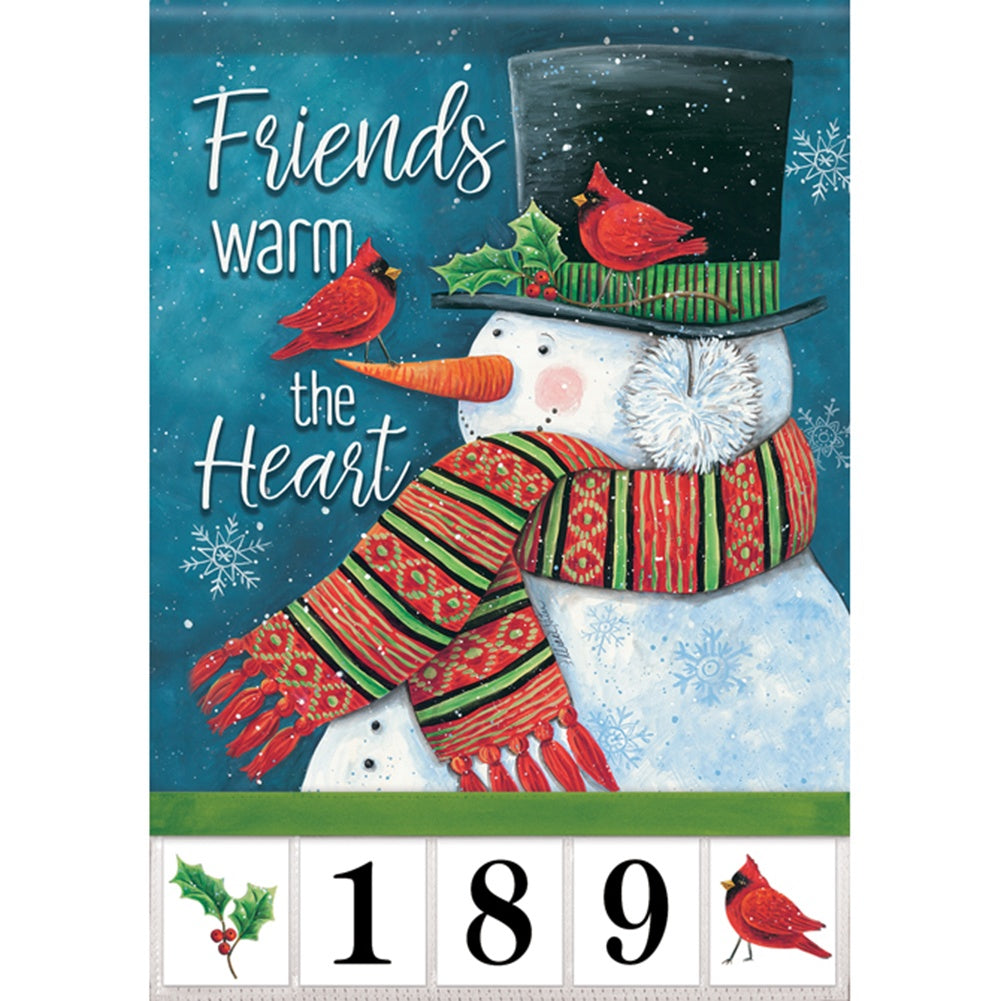Friends Warm The Heart Address Garden Flag