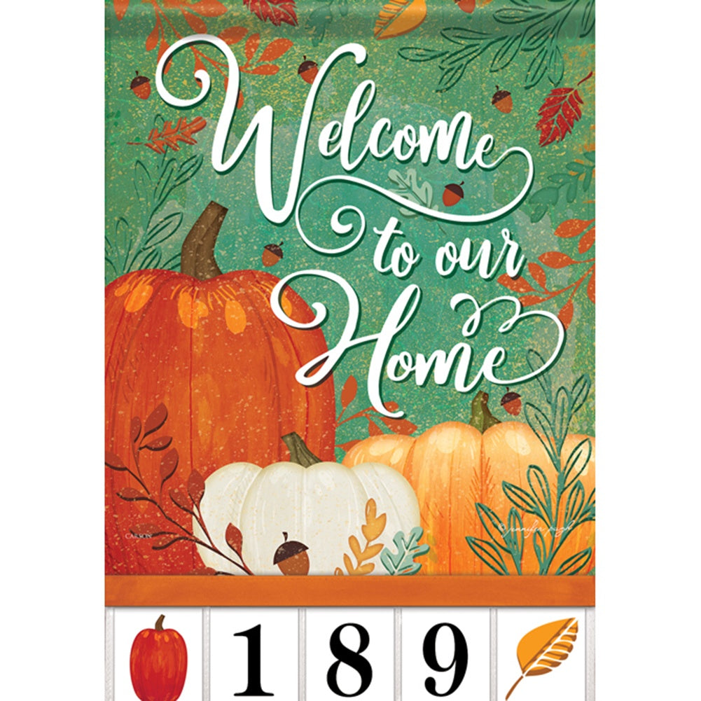 Gather & Be Grateful Address Garden Flag
