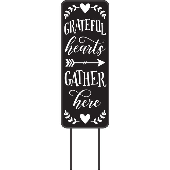 Grateful Hearts Metal Yard Panel