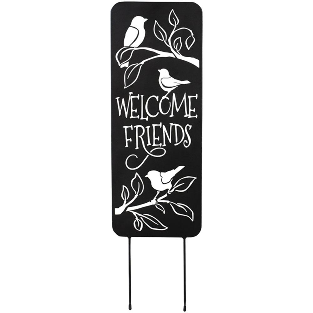 Songbird Welcome Metal Panel