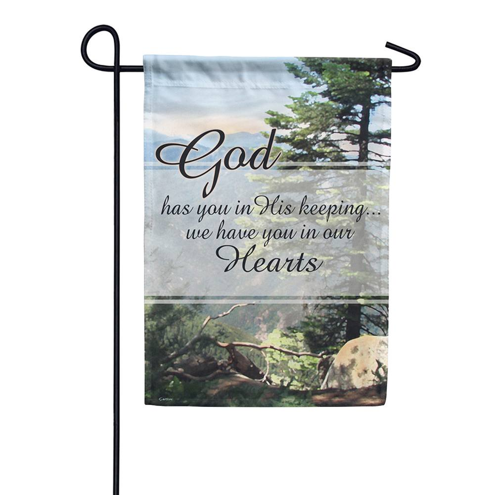 Gods Keeping Double Sided Garden Flag