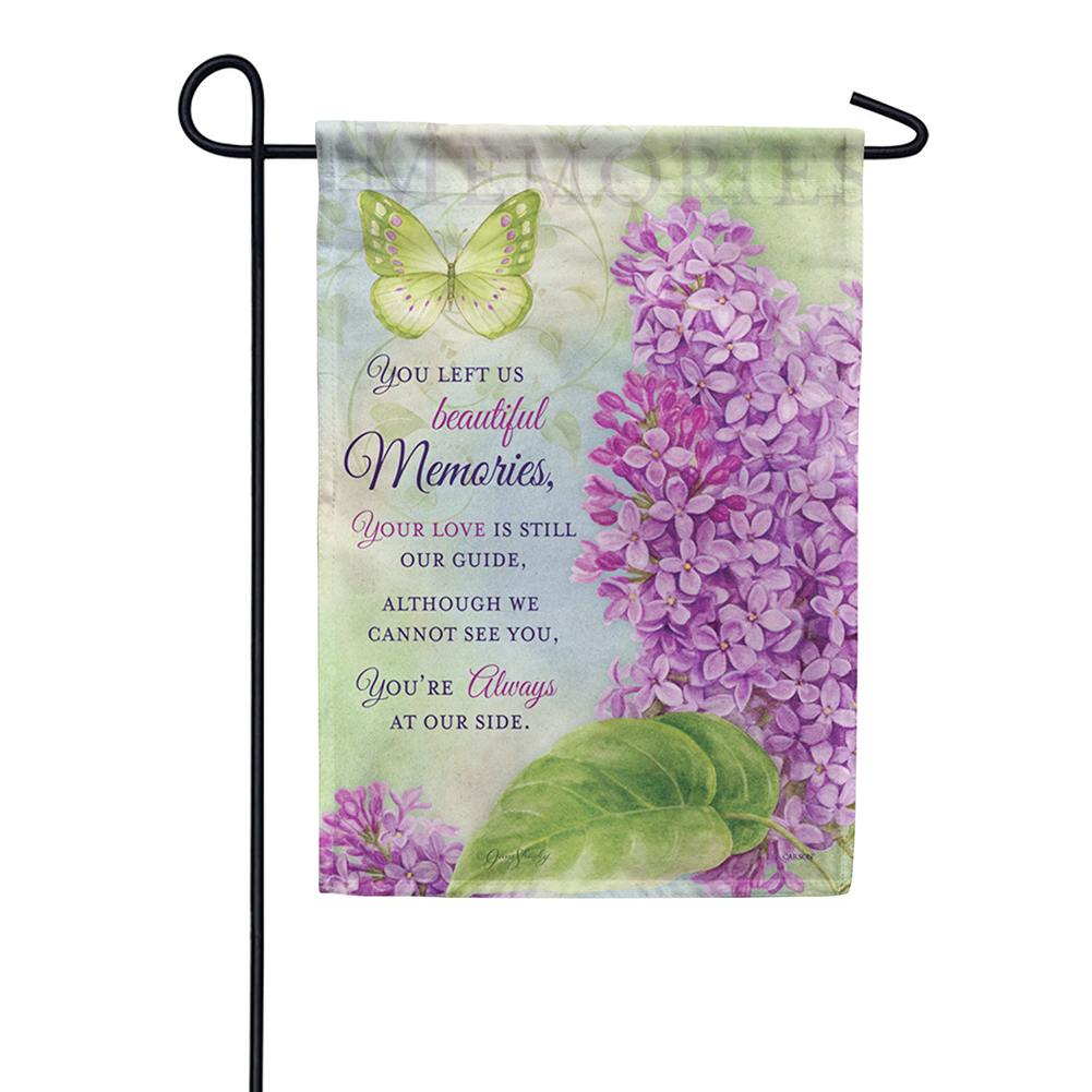 Beautiful Memories Double Sided Garden Flag