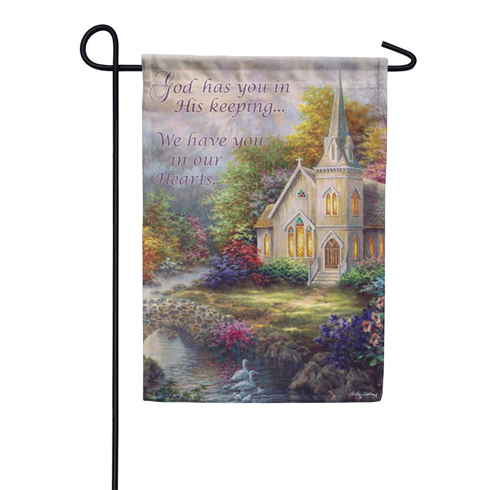 In Our Hearts Double Sided Garden Flag