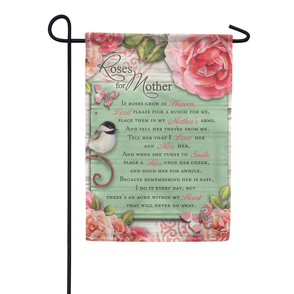 Roses For Mother Double Sided Garden Flag