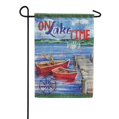 On Lake Time Double Sided Garden Flag