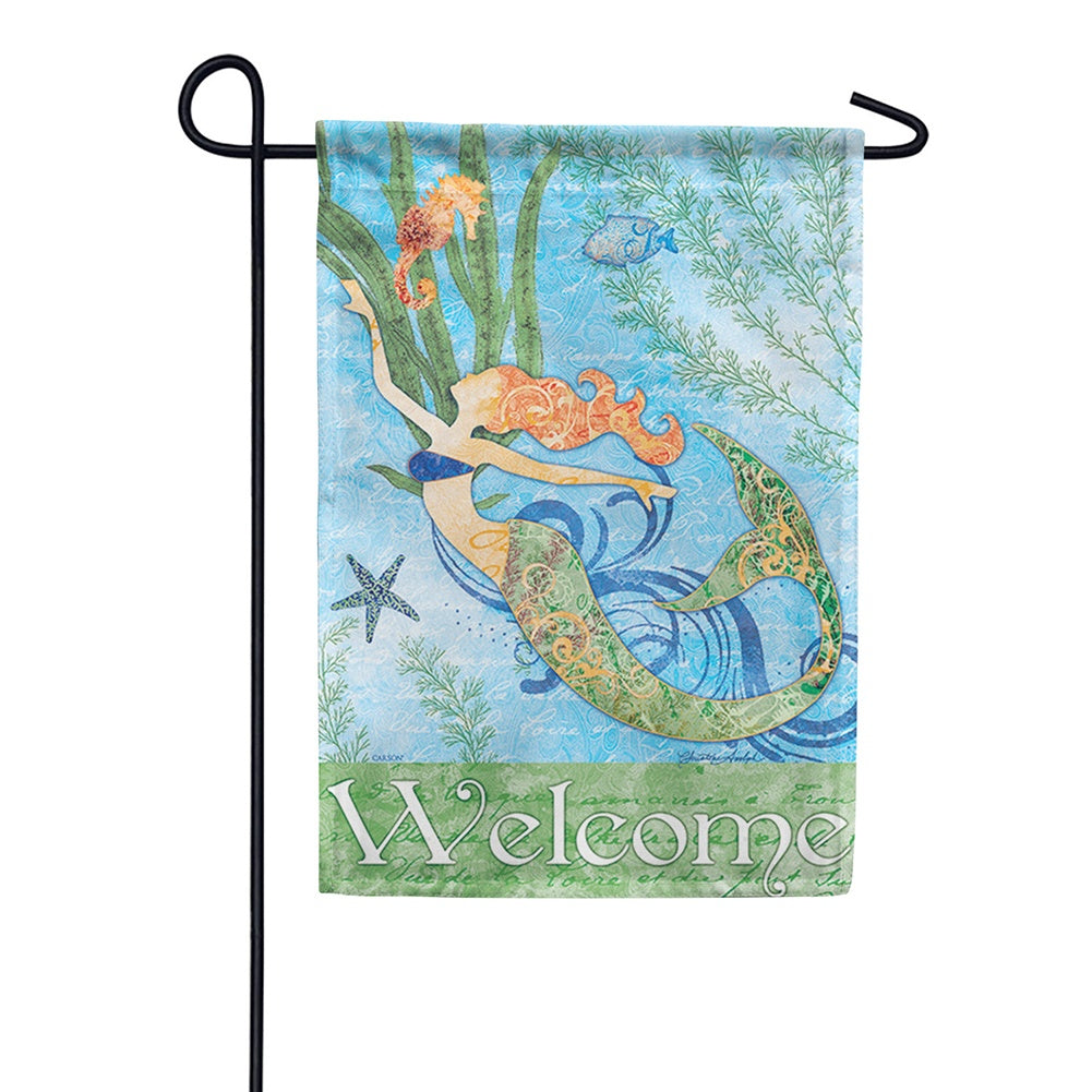 Mermaid Welcome Double Sided Garden Flag