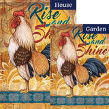 Morning Rooster Double Sided Flags Set (2 Pieces)