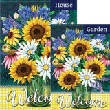 Sunflower Bouquet Double Sided Flags Set (2 Pieces)