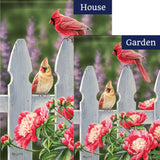 Cardinal Gate Flowers Double Sided Flags Set (2 Pieces)