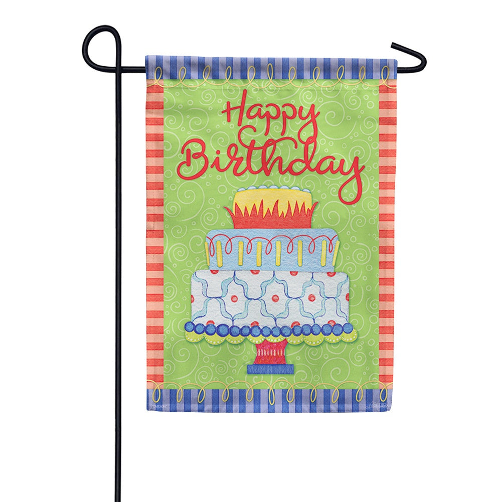 Birthday Time Double Sided Garden Flag