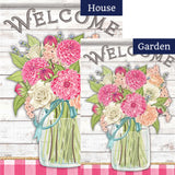Beautiful Bouquet Double Sided Flags Set (2 Pieces)