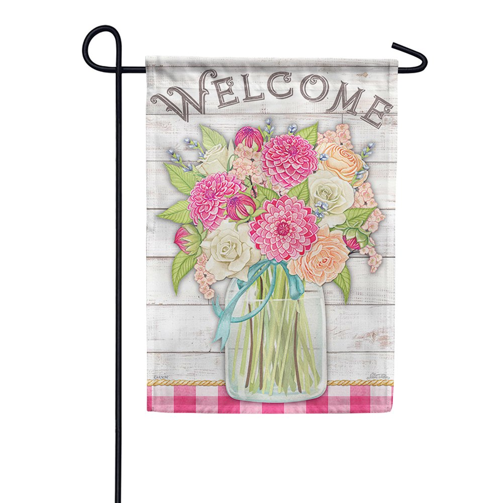 Beautiful Bouquet Glitter Trends Double Sided Garden Flag