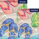 Flip Flop Days Double Sided Flags Set (2 Pieces)